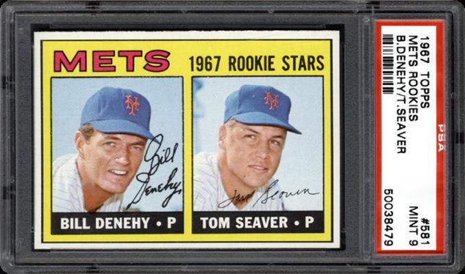 1967 topps 581 mets rookies bdenehytseaver 57218
