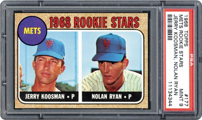 1968 topps 177 mets rookies jkoosmannryan 57219