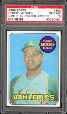 1969 topps 260 reggie jackson 57224